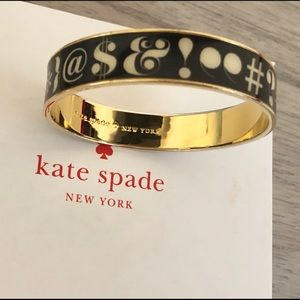 "kate spade Jewelry - RARE Kate Spade ""Pardon My French"" Idiom Bangle"